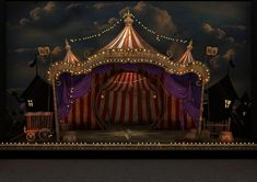 Scénographie - Saltimbancos Trapalhões -Rogério Falcão, #rogerio #saltimbancos #scenographie #trapalh Circus Show, Circus Art, Circus Theme, Circus Tents, Dark Circus, Circus Aesthetic, Circo Vintage, Stage Set Design, Night Circus