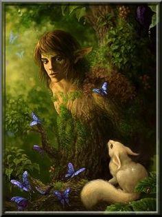 Los elfos// Los elfos de los bosques son a veces siniestros, quizás podrían incluirse dentro de la categoría de elfos de la penumbra.    Describiendo sus costumbres, se justifica esta afirmación……….    Los Skogsra, elfos suecos, se consideraban peligrosos. Sus mujeres, que eran hermosas y seductoras, intentaban atraer aquellos que se habían extraviado en el bosque.......    De:http://mitologiayleyendas.ning.com/group/elfosyhadasenlaliteraturayelarte/forum/topics/los-elfos-del-bosque