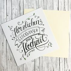 Congratulations on the wedding hand lettering . Congratulations on the wedding hand lettering . - STEP-BY.