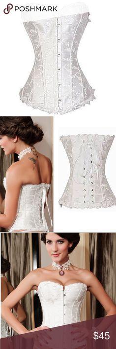 Elegant Jacquard Weave White Corset Top! NWTs!🌸 N Intimates & Sleepwear Shapewear
