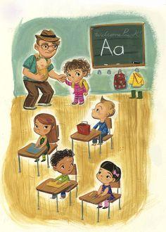Wednesday Kirwan by T2 Children's Illustrators, via Behance