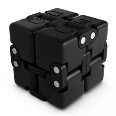OCTOCUBE Infinity Cube Fidget Toy w/Gift Box - Luxury Infinite Cool Gadget for Kids, Adults - Prime Sensory Stress Relief, Pressure Reduction Unique Distraction for Autism, Quit Smoking - Black Cube Fidget Toy, Fidget Toys, Kids Gadgets, Cool Gadgets, Spy Gear, Stress Relief, Infinite, Autism, Smoking