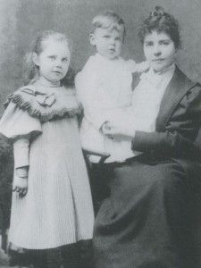 Arthur Conan Doyle's first wife Louisa 'Touie' Hawkins with their children Mary and Kingsley Doyle..