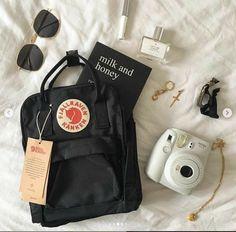 look at how cute the mini kanken is! ☆ also my nyc haul is now up! look at how cute the mini kanken is! ☆ also my nyc haul is now up! Mochila Kanken, Mochila Jansport, Cute Backpacks, Girl Backpacks, Kanken Mini, Fjallraven Kanken Black, Kanken Backpack Mini, Mochila Adidas, Aesthetic Backpack
