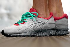 Concepts are keeping us all on our toes, gearing up to release two colabs this upcoming Saturday. This ASICS Gel Lyte V is looking pretty dang fiery for sure, a grey suede base, earthed by a speckled grey midsole, accented by flaming red around the midfoot and ankle collar and finished off with more lace colour options …
