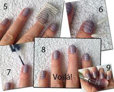 Nails with newpaperprint