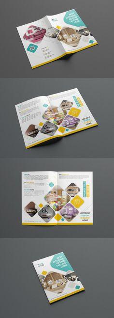 Interior Bifold Brochure Template PSD