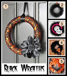 Front Door Orange Black Wreaths · Home and Garden | CraftGossip.com