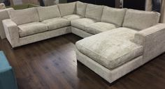 Sofa U Love | Custom Made-in-USA Furniture | Sectionals Sectionals Custom U-Shape Straight Arm Sectional