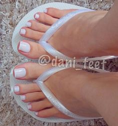 Share, rate and discuss pictures of Dani Feet's feet on wikiFeet - the most comprehensive celebrity feet database to ever have existed. Toe Nails White, Ivory Nails, Pretty Toe Nails, Cute Toe Nails, Pretty Toes, Acrylic Toes, Cute Acrylic Nails, Beautiful Toes, Beautiful High Heels