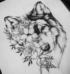 This but make it my dogs face! - This but make it my dogs face! Wolf Tattoos, Tribal Wolf Tattoo, Leg Tattoos, Body Art Tattoos, Sleeve Tattoos, Wolf Face Tattoo, Girly Tattoos, Small Tattoos, Tattoo Sketches