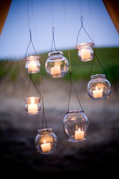 would be great for a seaside party, just would need to make sure to have votives that burned enough hours
