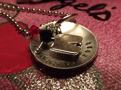 Class of 2012 hand stamped disc necklace with school colors.  Designed and made by   www.fb.com/inspiredcreationsbyheidi