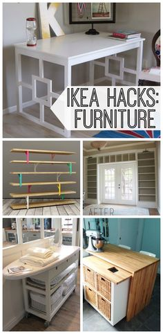 15 Ikea Furniture Hacks. DIY your way to a smart, stylish home with these 15 Ikea hacks. Love the organization that just a few tweaks can bring to a space. #10 is a genius idea.