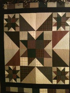 Hunters Star Quilt. What a bold looking quilt. I love the color ... : big star quilt block - Adamdwight.com