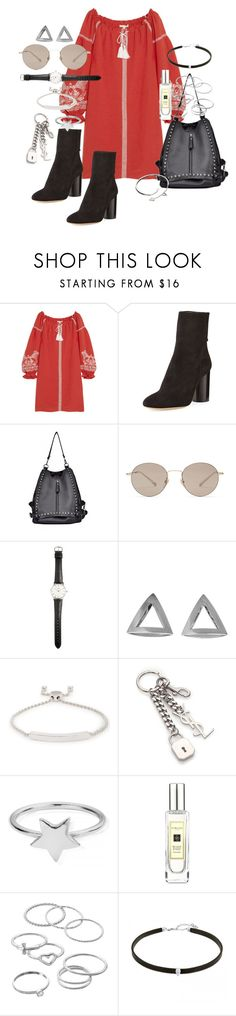 """""""Timing is everything"""" by marissa-91 ❤ liked on Polyvore featuring Maje, Isabel Marant, Gucci, Ole Mathiesen, Coco's Liberty, Monica Vinader, Yves Saint Laurent, ChloBo, Jo Malone and LC Lauren Conrad"""