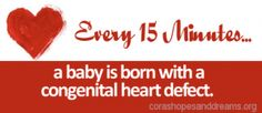 February 7 to 14 is Congenital Heart Defect Awareness Week. Nearly one in 100 babies are born with a congenital heart defect, and less than half are diagnosed before birth.
