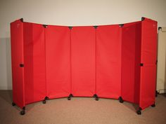 Our affordable MP10 Room Divider has fabric panels, making it lightweight and easy to transport.