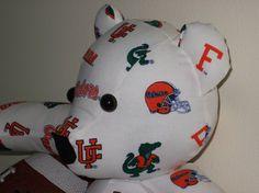 Teddy Bear Florida Gators White University Football by DoOver, $35.00 DoOver.Etsy.Com
