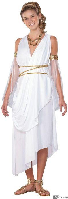 Seasons Greek Goddess Womens 3pc Adult Costume White Gold #Seasons #CompleteCostume