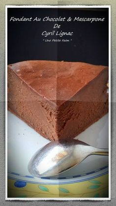 Chocolate Fondant & Mascarpone By Cyril Lignac - Dessert - Coffee Recipes Cheesecake Recipes, Cupcake Recipes, Cupcake Cakes, Dessert Recipes, Cupcakes, Caramel Recipes, Chocolate Recipes, Mascarpone Cake, Coffee Drink Recipes