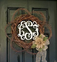 Wood-Monogram-Spring-Wreath diy