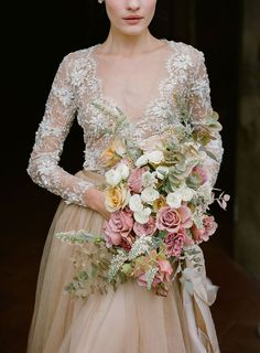 hand beaded french lace and embroidered italian tulle