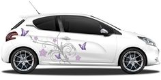 Autoaufkleber Schmetterlingsdekor