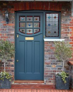 Stained Glass Front Door London Door Company for measurements 2350 X 2953 Stained Glass Exterior Doors - The front door is the first point of Exterior Doors With Glass, Entry Doors With Glass, Glass Front Door, Glass Doors, Doors With Glass Panels, Front Door Porch, House Front Door, House Doors, Cottage Style Front Doors