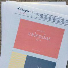 2014 desk calendar designcorral.com #free #calendar #printablecalendar