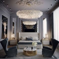 34 Beautiful Luxury Master Bedroom Design And Decor Ideas - Creating a dream master bedroom is easier to accomplish than most individuals assume. The amount of money available for use greatly affects how many d. Dream Master Bedroom, Master Bedroom Design, Cozy Bedroom, Modern Bedroom, Bedroom Ideas, Contemporary Bedroom, Contemporary Furniture, Bedroom Bed, Bedroom Colors