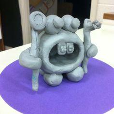 Pinch pot retainer monster