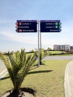 Lomas de Angelopolis, Puebla, México | Vehicular Wayfinding System | Sistema de Autoguía Vehicular | urbanetica.com