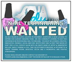 We are Looking for Two nail Technicians Nail Technician, Professional Nails, Salons, Innovation, Creative, Fun, Lounges, Hilarious