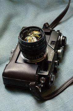 Classic Nikon S-series rangefinder camera