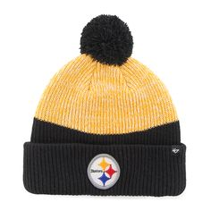 b82b72b895a Pittsburgh Steelers 47 Brand Black Breakaway Cuff Knit Hat