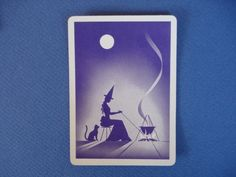 Gypsy Witch Fortune Telling Playing Cards Vintage Tarot Cards, Vintage Playing Cards, Fortune Telling Cards, Which Witch, Gypsy Witch, Single Wide, Vintage Gypsy, Witches Brew, Card Reading