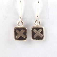 XX Tile Earrings - Black | DARKBLACK $180 NZD