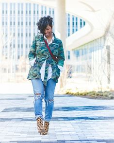 🤗 Me again in my fave boots! They are currently On Sale if you need or want a pair! 🙌🏽❤ *Hugs* Just a reminder you… Camo Fashion, Black Girl Fashion, Look Fashion, Fashion Outfits, Womens Fashion, Fashion Ideas, Camo Outfits, Denim Outfit, Casual Outfits