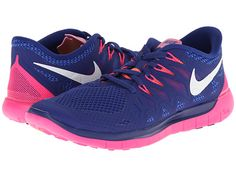 Nike Nike Free 5.0 '14 Deep Royal Blue/Hyper Pink/Bright Mango/White - Zappos.com Free Shipping BOTH Ways
