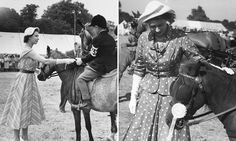 Her Majesty hasn't missed the Royal Windsor Horse Show once in its 72-year history. As this year's show prepares to open, an intimate set of photos from the event's archives have been released.