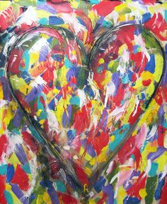 "Jim Dine - Pop Art   Play ""Pas the Paint"" (pass individual jars of paint the students must use and can not cover over any other paint on their paper) or create a tinfoil, papermasche heart mounted on a dowel or hung from a string."