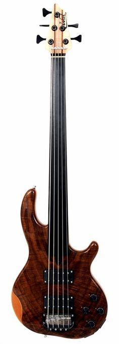 Wal Basses - Mk 3 5str with Claro Walnut facings in a Gloss finish, Chrome hardware and black Hipshot tuners