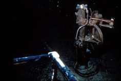 The wheelhouse of the titanic today, at the bottom of the Atlantic.
