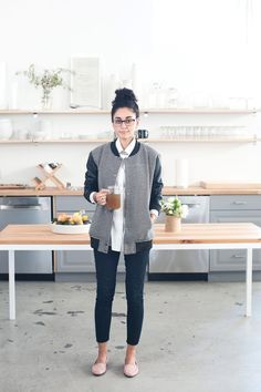 """How To Master Minimalist Dressing, The Everlane Way #refinery29  http://www.refinery29.com/minimalism-everlane-office#slide16  Name: Hawa Arsala Position: Studio assistant What's your one tip for minimalist dressing?  """"Adding a statement piece to an outfit, whether it's a pattern, pop of color, or texture, is a great way to accentuate clean lines while adding a bit of your own personality. """" Tell us more about what you do at Everlane?  """"I assist our creative project manager, Kiersten, with…"""
