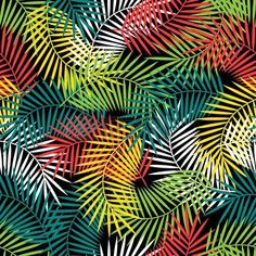 Motif tropical avec cocotiers Seamless feuilles de palmier stylis�e. photo