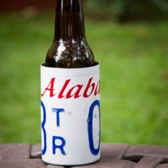Alabama License Plate Coozie from 3 Sisters Design Co and Bourbon & Boots