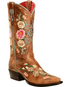 Anderson Bean Boots Macie Bean Rose Garden Cowgirl Boots - Snip Toe | Sheplers