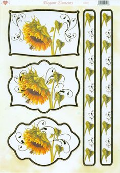 Sunflower toppers and borders
