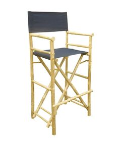 31 seat height metal director s chair with black canvas seat
